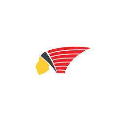 american apache indian logo vector image