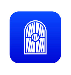 arched window icon digital blue vector image