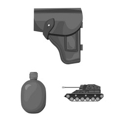 army and armament monochrome icons in set vector image