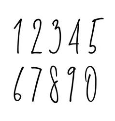 ballpen lettering numbers vector image