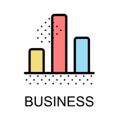 Bar chart icons for business on white background vector