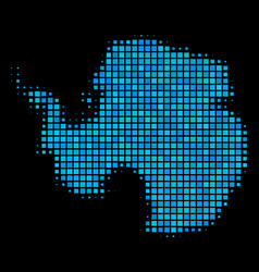 Blue halftone antarctica map vector