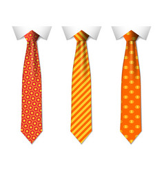 Blue plain and striped ties vector