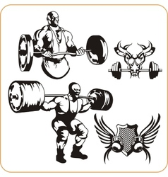 Bodybuilding and Fitness vector