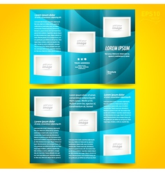 Brochure design template waves tfifold vector