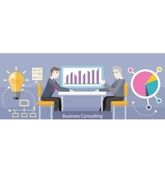 Business consulting design flat vector