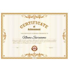 certificate template diploma award border frames vector image
