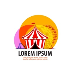 Circus logo design template carousel or fair icon vector