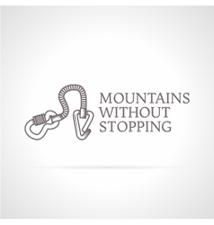 climbing gear icon with vector image