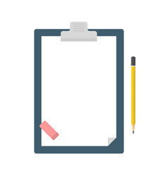 clipboard with blank sheet of paper a pencil vector image
