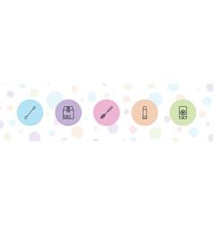 Closeup icons vector