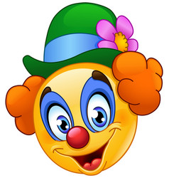 clown emoticon vector image vector image