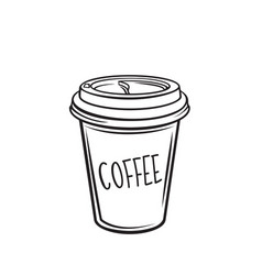 Coffee drink disposable paper cup vector