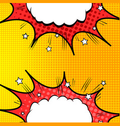 Colorful comic bright dynamic concept vector