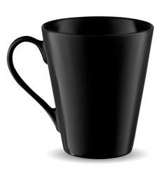 cup mockup black mug template isolated coffee vector image