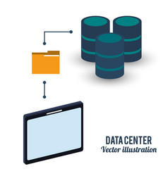 data center storage folder file vector image