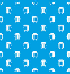 Dumpster on wheels pattern seamless blue vector