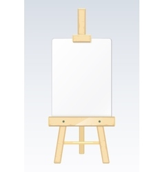 Easel painting desk drawing board with blank vector image