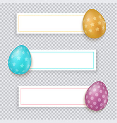 easter banners set easter banners vector image