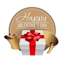 Emblem congratulations to valentines day vector