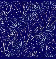 Firework seamless background glitter foil vector