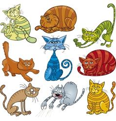 Funny cats set vector