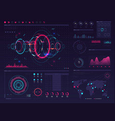 futuristic hud digital touch screen display vector image