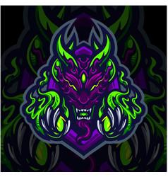 ghost esport mascot logo design vector image