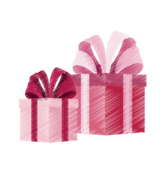 giftbox with big bow on top icon image vector image