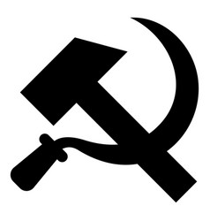 hammer and sickle icon black color flat style vector image