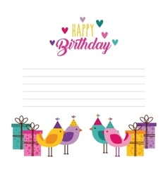 happy birthday celebration card icon vector image