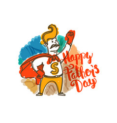 happy fathers day banner vector image