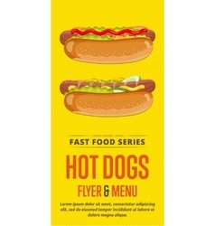 Hot dog sale flyer vector image