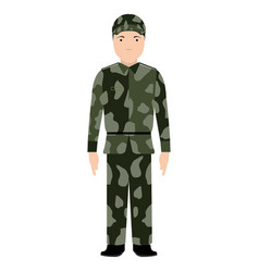 Isolated soldier avatar vector