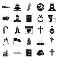 kirk icons set simple style vector image