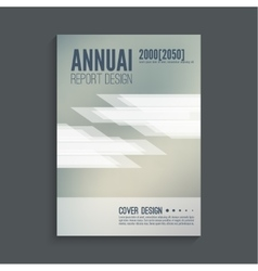 Layout annual report cover vector