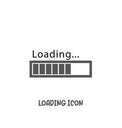 loading bar progress icon simple flat style vector image