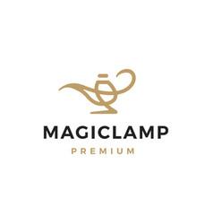 Magic lamp logo icon vector