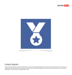 Medal icons - blue photo frame vector