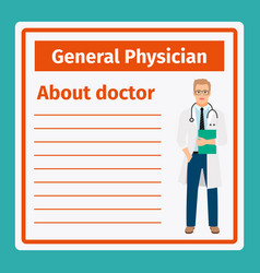 medical notes about general physician vector image