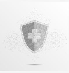 medical protection concept polygonal art vector image