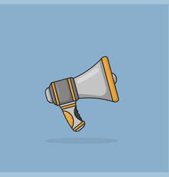 megaphone symbol or icon in flat design vector image