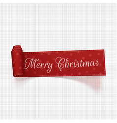 merry christmas festive ribbon vector image