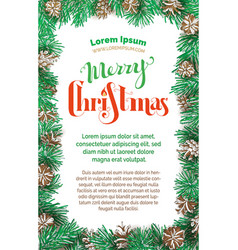 merry christmas vertical design vector image