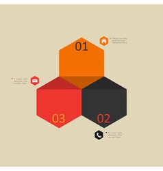 Modern design template for infographics vector image vector image