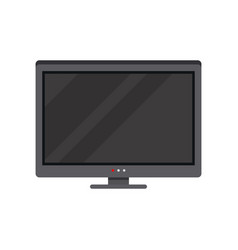 modern lcd tv on a white vector image