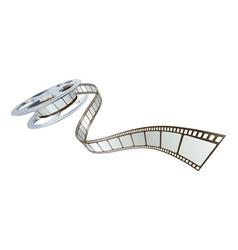 Movie film spooling out film reel vector