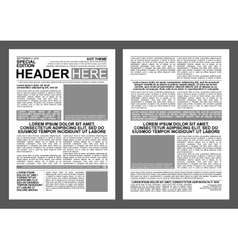 Newspaper Template vector image
