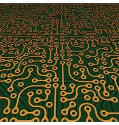 Perspective Circuit Board Image vector