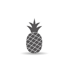 pineapple fruit icon simple flat style vector image
